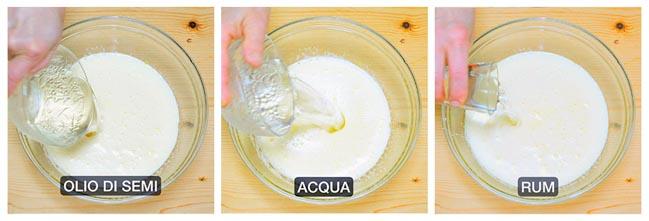 preparazione ciambellone senza latte ne burro