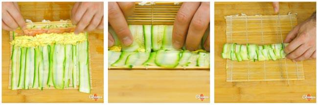 ricetta sushi finto di zucchine1