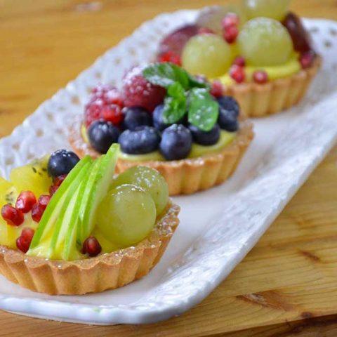 pasta frolla per crostatine alla frutta