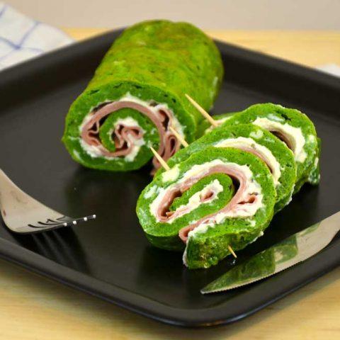 ricetta rotolo di frittata agli spinaci